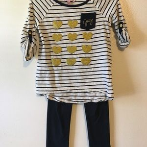 Juicy Couture Navy and White Matching Set